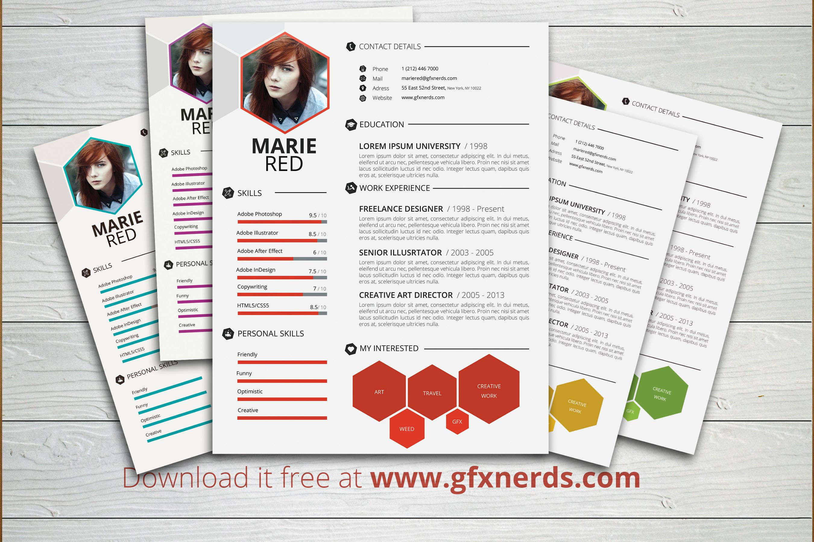 Free resume Template PSD format Black and White Obsession