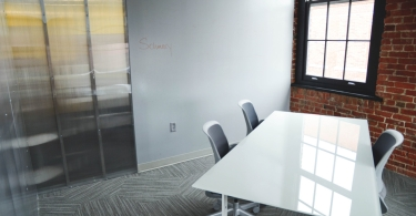 White desk in the meeting room thumbnail