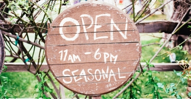Wooden open sign thumbnail