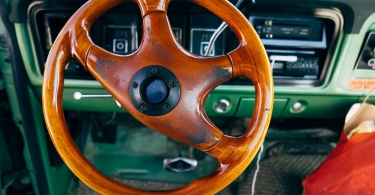 Wooden steering wheel thumbnail