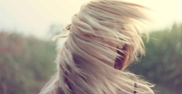 Blonde hair in the breeze thumbnail