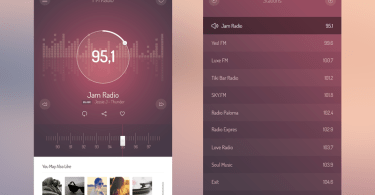 IOS 7 Radio ui kit