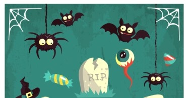001-happy-halloween-terror-elements-vector-flat-scary-hollydays