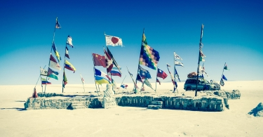 Flags in desert thumbnail