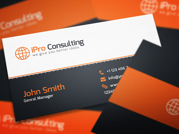 Consulting business card psd template free graphics for Free business card templates psd