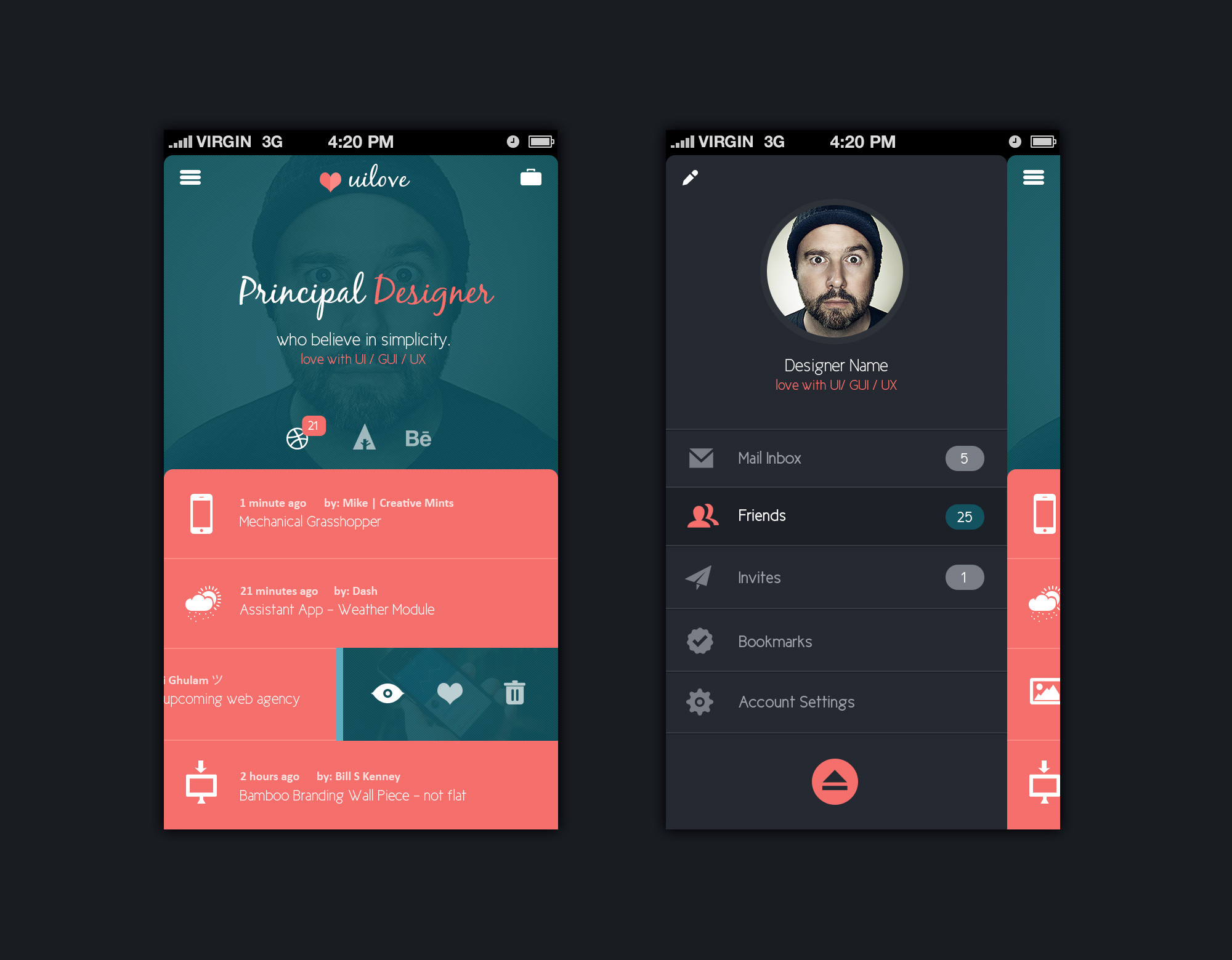 Mobile app design template psd free graphics Free home design app