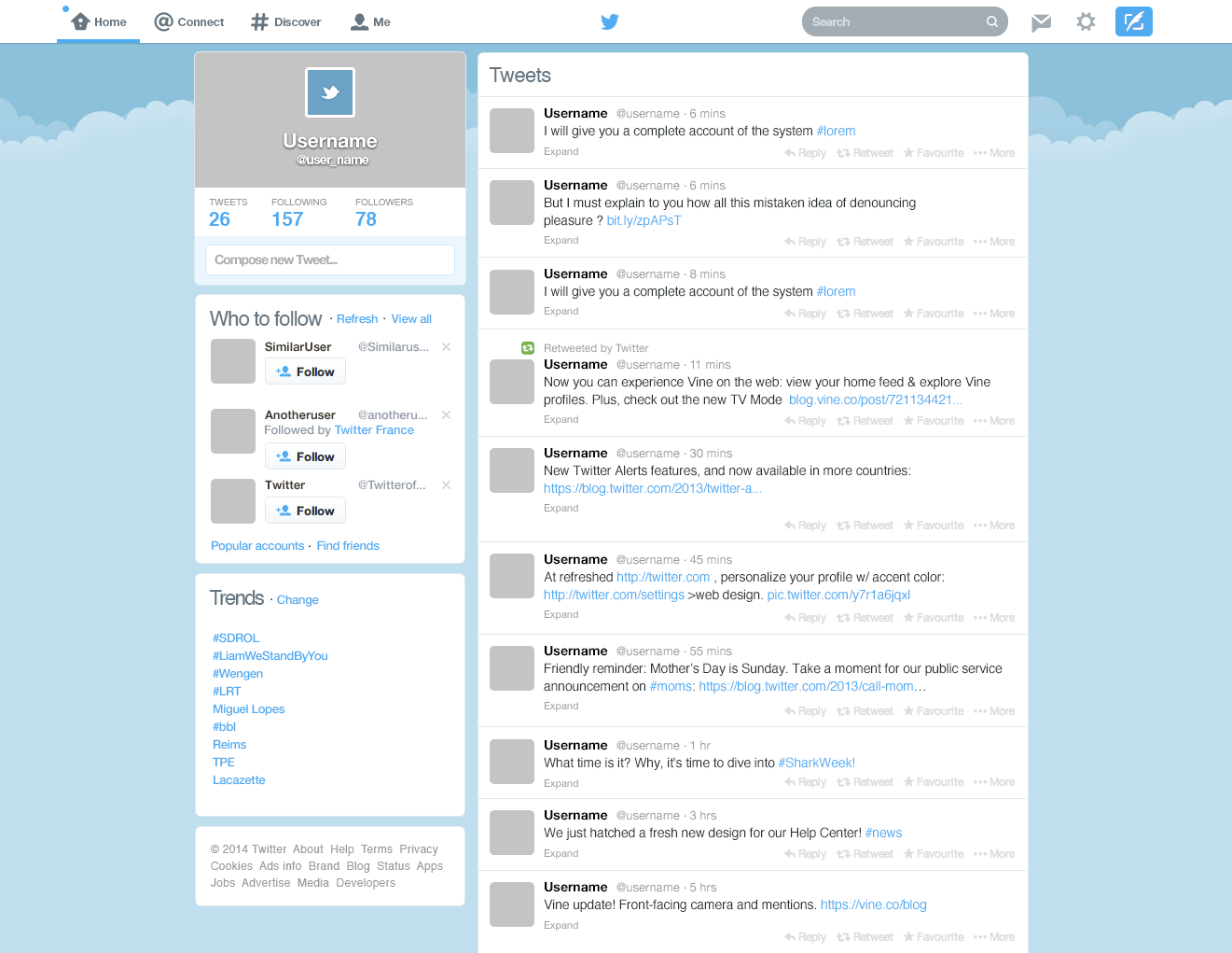 Nice Twitter Feed Template Images Gallery >> Index Of Blog Wp ...