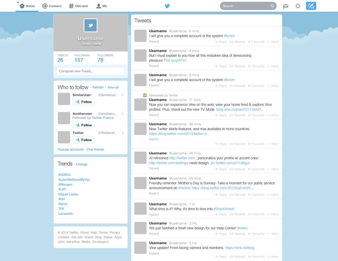 Tolle Kostenlose Twitter Hintergrund Vorlage Bilder - Entry Level ...