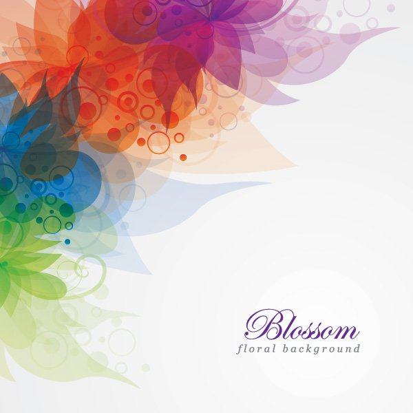 Blossom Floral Background Vector Graphic