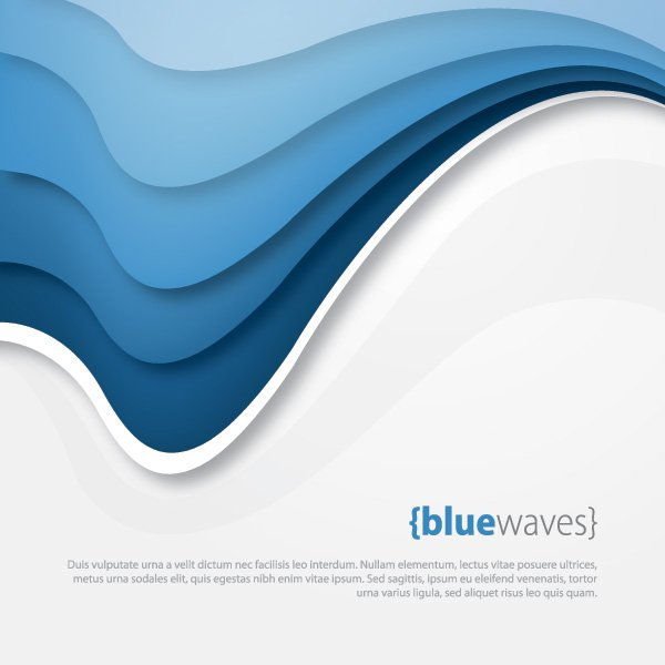 Blue Waves Vector Graphic - Free Graphics