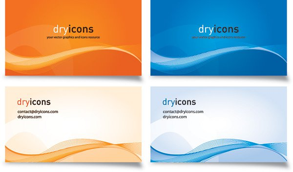 Business Cards 2 Vector Graphic Free Graphics