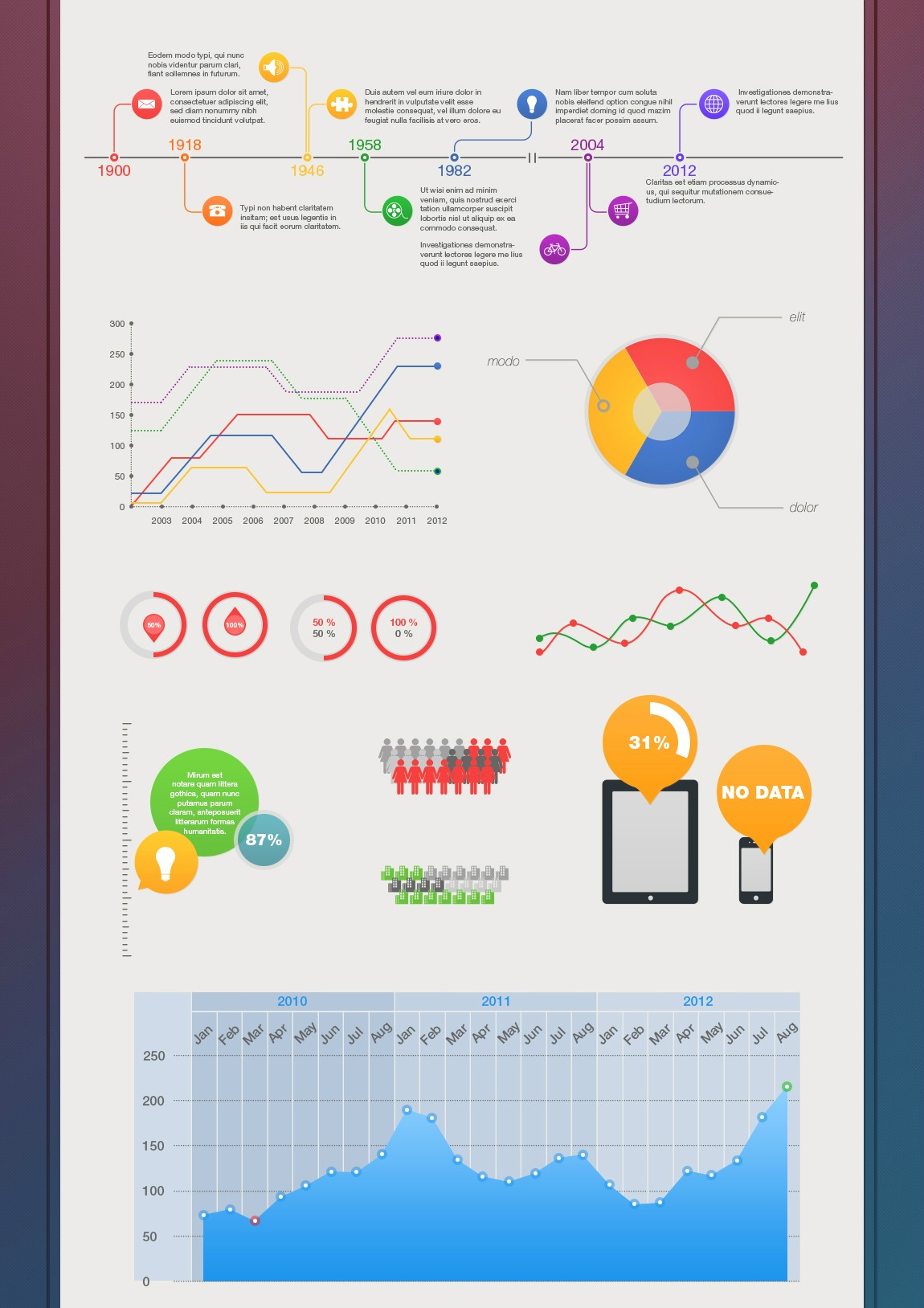 Free – infographic psd template - Free Graphics