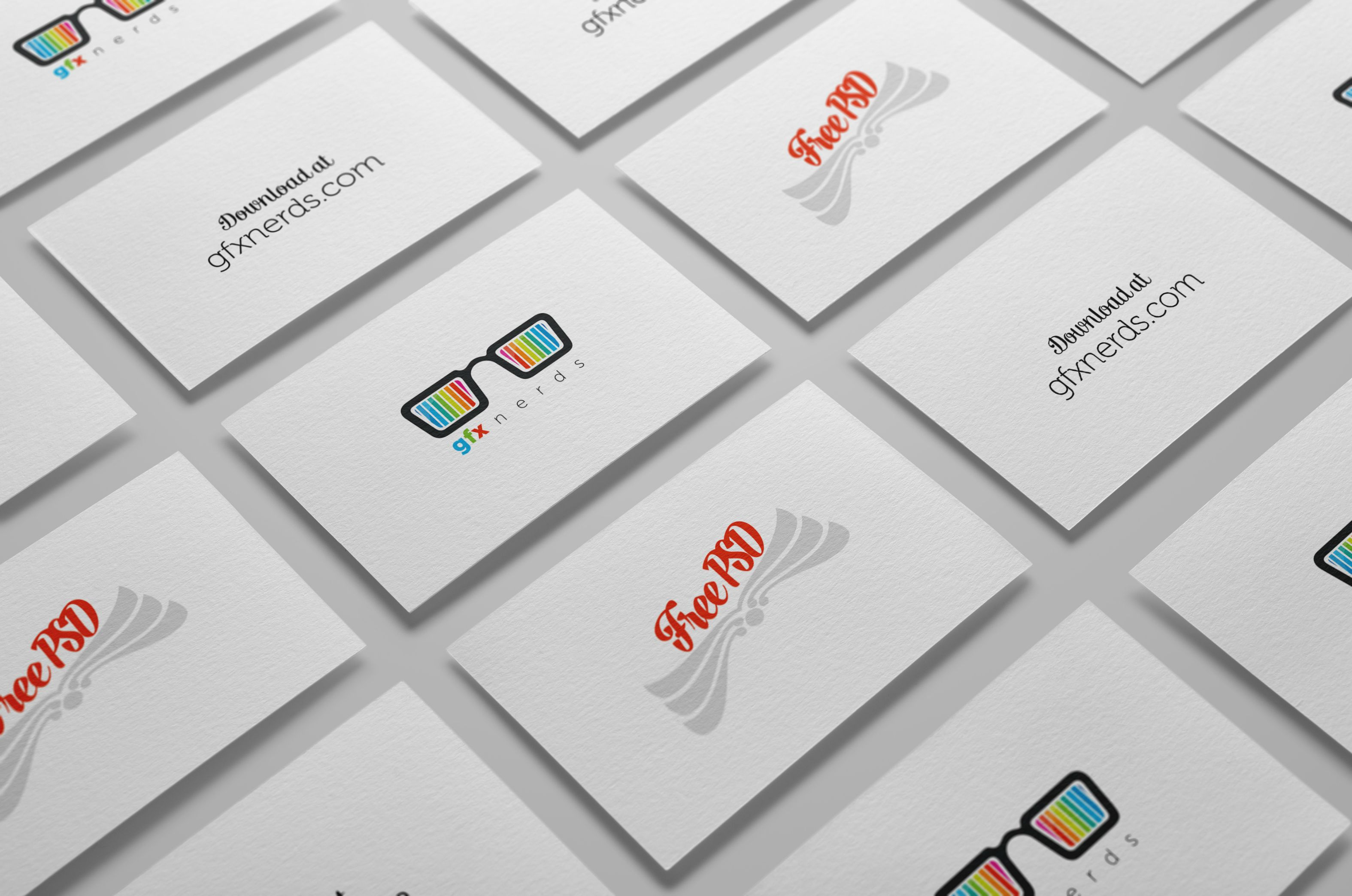 Business cards mockup free psd Free Graphics