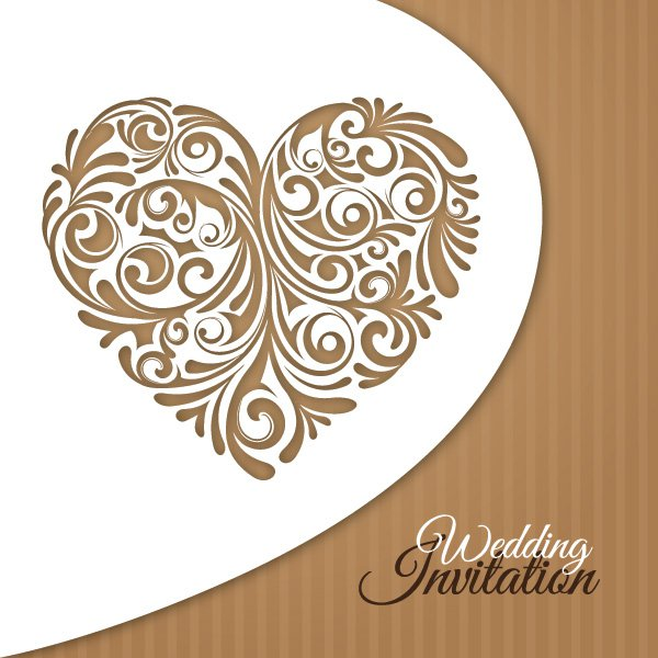 Wedding invitation card vector graphic free graphics stopboris Gallery