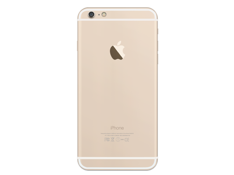 iPhone 6 Plus Gold Back - Free Graphics