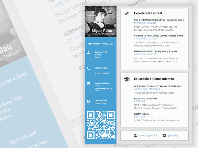 Html code for cv resume
