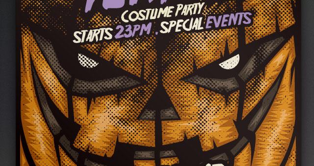 Pumpkin Halloween Flyer Template Free Graphics