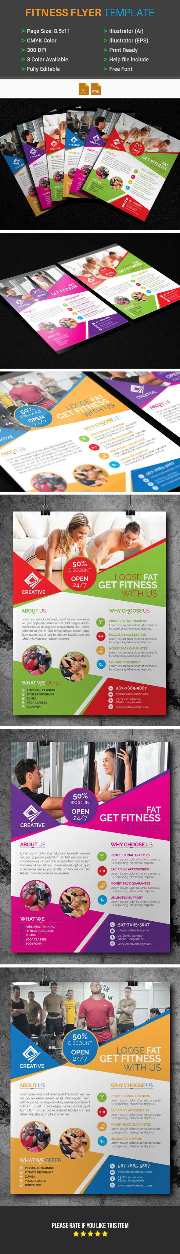 Fitnessgym Flyer Template Free Graphics